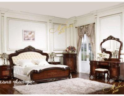 Спальня Аманда (Темный орех с золотом)